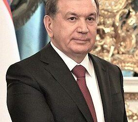 Le président Shavkat Miromonovitch Mirziyoyev